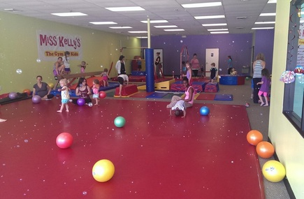 Kids activity with gymnastics