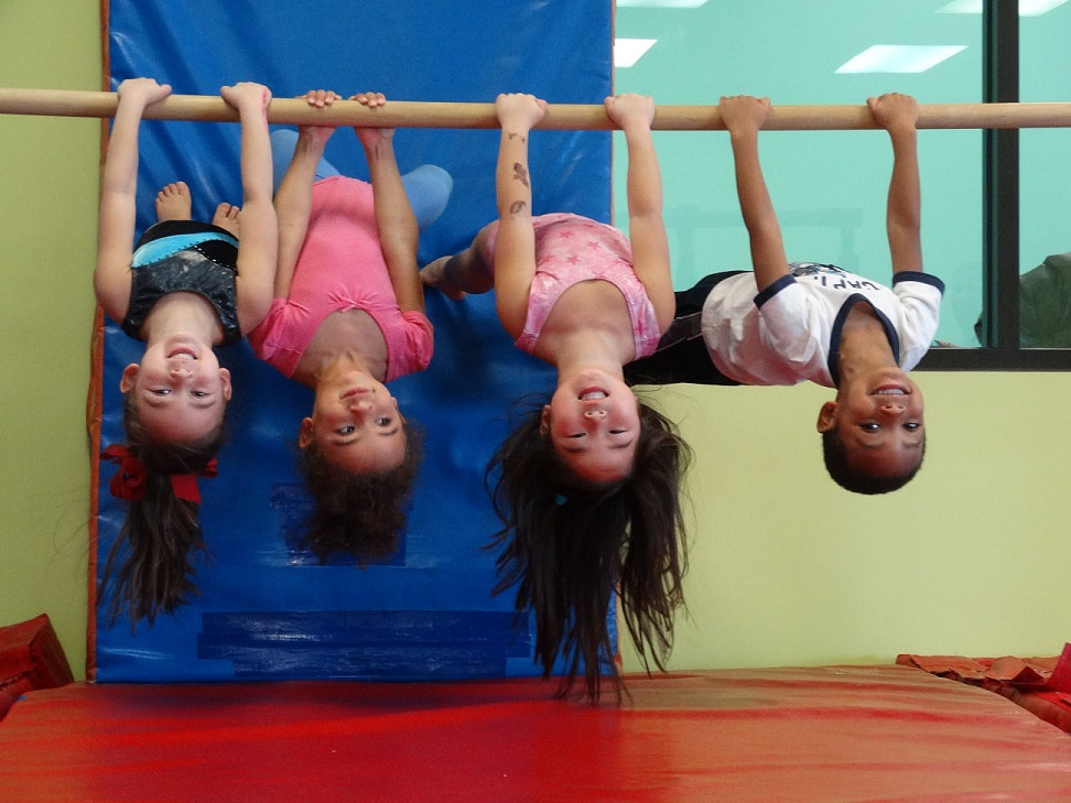 Childrens gymnastics activity